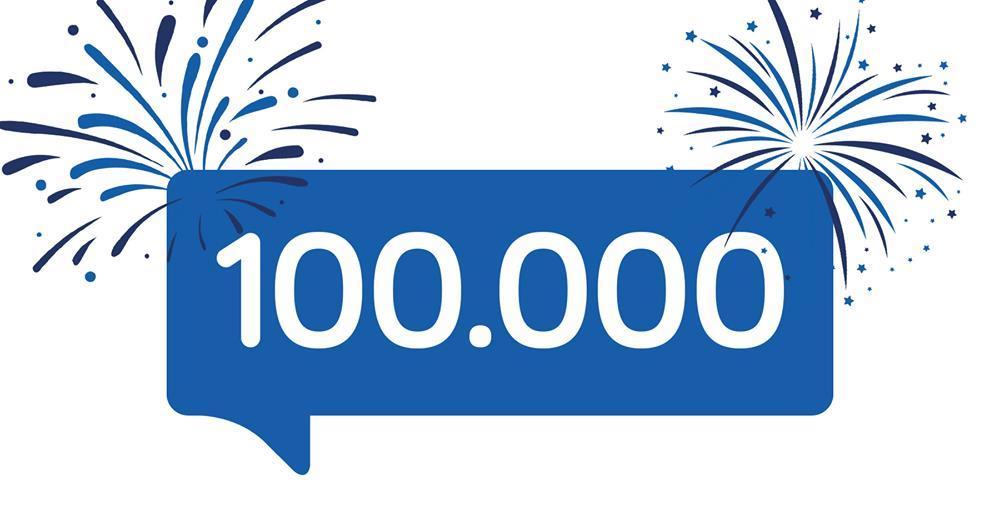 100.000 Mitglieder geknackt